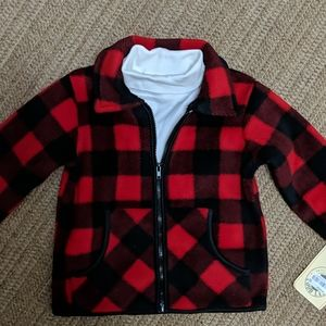 Good Lad Buffalo Plaid Jacket & Turtleneck New